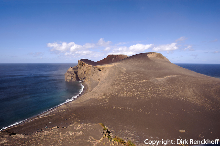 Vulkan Capelinhos auf der Insel Faial, Azoren, Portugal