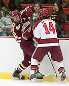 Bill Arnold (BC - 24), Alexander Kerfoot (Harvard - 14) - The visiting Boston College Eagles defeated the Harvard University Crimson 5-1 on Wednesday, November 20, 2013, at Bright-Landry Hockey Center in Cambridge, Massachusetts.