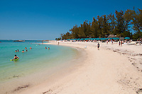 People on the beach of Zachary Taylor Park, Key West, Florida