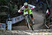 10th September 2017, Smithfield Forest, Cairns, Australia; UCI Mountain Bike World Championships; Jack Moir (AUS) riding for Intense Factory Racing on his way to fourth place in the elite mens downhill race;