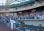 Reno Aces Taylor Harbin acknowledges the fans after their win over the Sacramento River Cats  on Sunday afternoon, September 9, 2012 in Reno, Nevada.