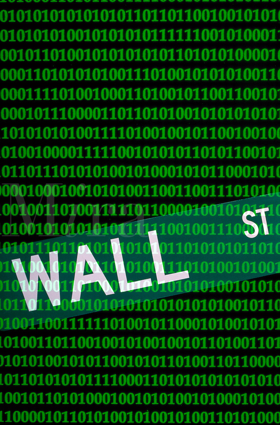 computer designed picture of  the sign wall street