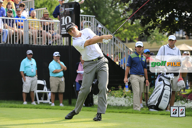 David HOWELL (ENG) tees off the 10th tee to start his match  during Thursday's Round 1 of the WGC Bridgestone Invitational, held at the Firestone Country Club, Akron, Ohio.: Picture Eoin Clarke, www.golffile.ie: 31st July 2014