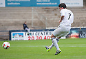 Raith Rovers' Joe Cardle scores their fourth goal.