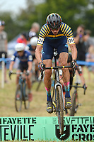 NWA Democrat-Gazette/ANDY SHUPE<br /> Terol Pursell competes Saturday, Oct. 5, 2019, during the inaugural FayetteCross two-day cyclocross race series on Millsap Mountain at Centennial Park in Fayetteville. Visit nwadg.com/photos to see more photographs from the race.