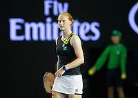ALISON VAN UYTVANCK (BEL)<br /> <br /> TENNIS - GRAND SLAM ITF / ATP  / WTA - Australian Open -  Melbourne Park - Melbourne - Victoria - Australia  - 19 January 2016<br /> <br /> &copy; AMN IMAGES