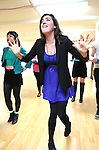 Barrett Wilbert Weed performing at the Open Press Rehearsal for 'Heathers The Musical' on February 19, 2014 at The Snapple Theatre Center in New York City.