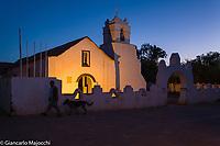 South America, Chile, puna de atacama ,San Pedro de Atacama, church