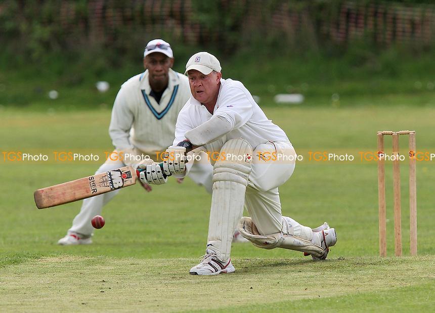 J Clarke in batting action for Noak Hill 1sts - Noak Hill Taverners 1st XI vs Noak Hill Taverners 2nd XI - Lords International League Cricket - 01/05/10 - MANDATORY CREDIT: Gavin Ellis/TGSPHOTO - Self billing applies where appropriate - Tel: 0845 094 6026