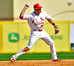 10 March 2010: St. Louis Cardinals' infielder Tyler Greene in action during a Spring Training game against the Washington Nationals at Roger Dean Stadium in Jupiter, Florida. The Cardinals defeated the Nationals 6-4 in Grapefruit League action. Mandatory Credit: Ed Wolfstein Photo