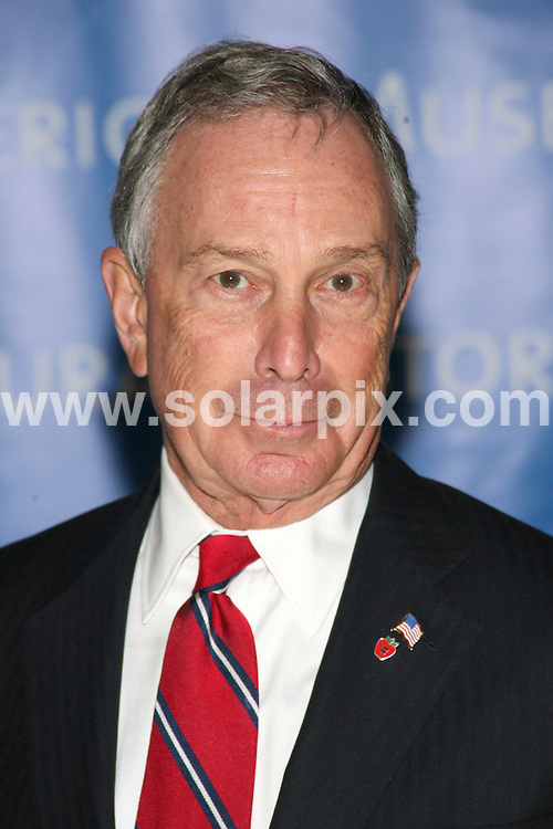 **ALL ROUND PICTURES FROM SOLARPIX.COM**.**SYNDICATION RIGHTS FOR UK, SPAIN, PORTUGAL, AUSTRALIA, S.AFRICA & DUBAI (U.A.E) ONLY**.The Museum Gala 2008 at The Museum of Natural History in Central Park West in New York City, New York in the USA. .This pic:Michael Bloomberg..JOB REF:7973-PHZ/Sylvain Gaboury   DATE:20-11-08 .**MUST CREDIT SOLARPIX.COM OR DOUBLE FEE WILL BE CHARGED* *UNDER NO CIRCUMSTANCES IS THIS IMAGE TO BE REPRODUCED FOR ANY ONLINE EDITION WITHOUT PRIOR PERMISSION*