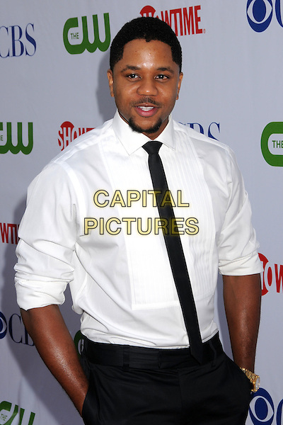HOSEA CHANCHEZ.CBS, CW and Showtime TCA Press Tour Party at Boulevard 3, Hollywood, California, USA..July 18th, 2008.half length white shirt black tie hands in pockets .CAP/ADM/BP.©Byron Purvis/AdMedia/Capital Pictures.