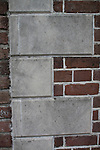 Brick Corner stones on a Historic House in Charleston South Carolina