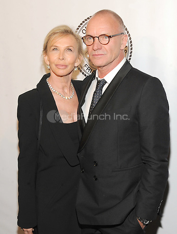 New York, NY- October 7: Trudie Styler and Sting attend the Friars Foundation Gala  at the Waldorf-Astoria on October 7, 2014 in New York City. Credit: John Palmer/MediaPunch