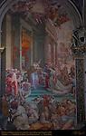 Marriage of Esther and Xerxes, Ester e Assuero, Ventura Salimbeni 1610, Chancel, Cathedral of Siena, Santa Maria Assunta, Siena, Italy