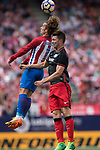 Antoine Griezmann (L) of Atletico de Madrid fights for the ball with Markel Susaeta Laskurain (R) of Athletic Club during their La Liga match between Atletico de Madrid vs Athletic de Bilbao at the Estadio Vicente Calderon on 21 May 2017 in Madrid, Spain. Photo by Diego Gonzalez Souto / Power Sport Images