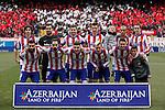 Atletico de Madrid´s initial team during 2014-15 La Liga match between Atletico de Madrid and Real Madrid at Vicente Calderon stadium in Madrid, Spain. February 07, 2015. (ALTERPHOTOS/Victor Blanco)