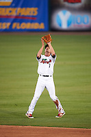 Fort Myers Miracle second baseman Ryan Walker (7) catches a popup during a game against the Brevard County Manatees on April 13, 2016 at Hammond Stadium in Fort Myers, Florida.  Fort Myers defeated Brevard County 3-0.  (Mike Janes/Four Seam Images)