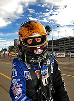 Oct. 31, 2008; Las Vegas, NV, USA: NHRA funny car driver Melanie Troxel during qualifying for the Las Vegas Nationals at The Strip in Las Vegas. Mandatory Credit: Mark J. Rebilas-