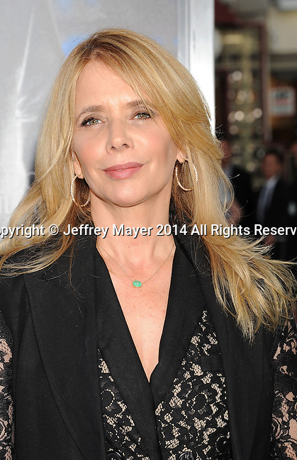 WESTWOOD, CA- APRIL 07: Actress Rosanna Arquette attends the Los Angeles premiere of 'Draft Day' at the Regency Village Theatre on April 7, 2014 in Westwood, California.