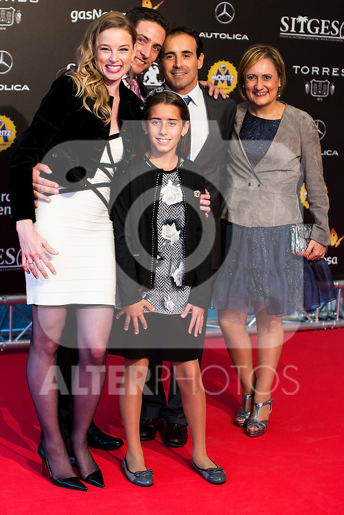 Rachel Nichols and her family during the red carpet of the opening ceremony of the Festival de Cine Fantastico de Sitges in Barcelona. October 07, Spain. 2016. (ALTERPHOTOS/BorjaB.Hojas)