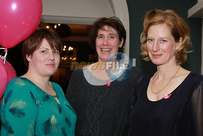 Karen Campbell, Vivienne Seymore, Cara Konig.at the Launch of the Daffodil Day lunch for 2013.Picture: Fran Caffrey/www.newsfile.ie.