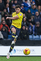 George Baldock of Oxford United in action during the Sky Bet League 2 match between Oxford United and Bristol Rovers at the Kassam Stadium, Oxford, England on 17 January 2016. Photo by Andy Rowland / PRiME Media Images.