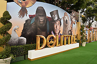 "WESTWOOD, CA - JANUARY 11: Atmosphere at the Premiere of Universal Pictures' ""Dolittle"" at Regency Village Theatre on January 11, 2020 in Westwood, California.<br /> CAP/ROT/TM<br /> ©TM/ROT/Capital Pictures"