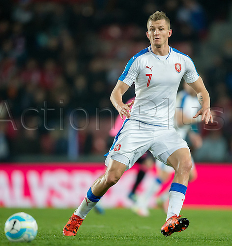 24.03.2016. Prague, Czech Republic.  The Czech Republic's Tomas Necid in action during the international friendly match between the Czech Republic and Scotland at Letna Stadium in Prague, Czech Republic, 24 March 2016.