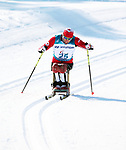 Pyeongchang, Korea, 11/3/2018-competes in the sitting cross country during the 2018 Paralympic Games in PyeongChang. Photo Scott Grant/Canadian Paralympic Committee.