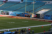 2nd February 2020, Miami Gardens, Miami, Florida USA; Superbowl LIV, Kansas City Chiefs versus San Francisco 49ers;   A general  view of the San Francisco 49ers end zone prior to Super Bowl LIV on February 2, 2020 at Hard Rock Stadium