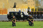 Egyptian police officers demonstrate their skills during their graduation ceremony at the police academy in Cairo, Egypt July 19, 2017. Photo by Egyptian President Office