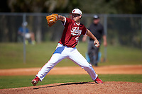 Indiana Hoosiers starting pitcher Caleb Baragar (45) delivers a pitch during a game against the Butler Bulldogs on March 6, 2016 at North Charlotte Regional Park in Port Charlotte, Florida.  Indiana defeated Butler 2-1.  (Mike Janes/Four Seam Images)