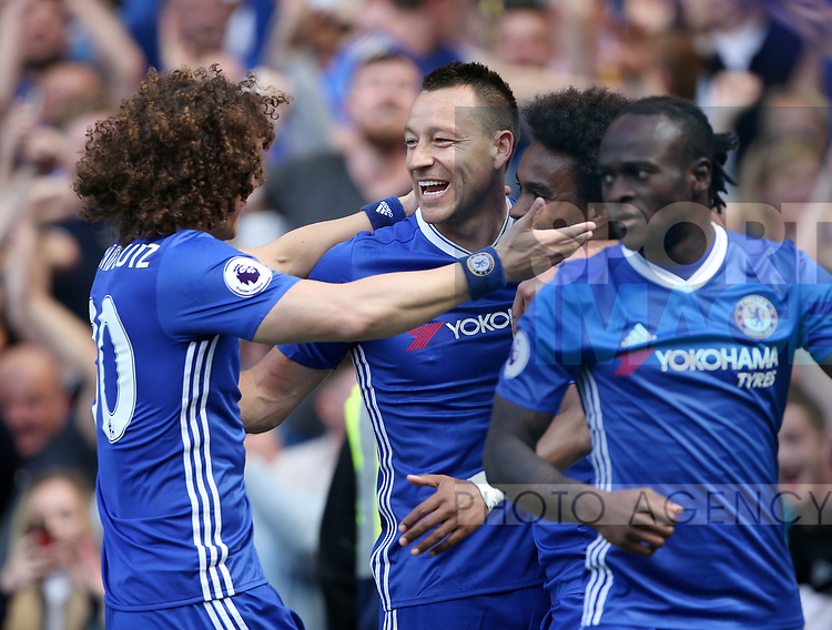 Chelsea's John Terry celebrates his sides opening goal during the Premier League match at Stamford Bridge Stadium, London. Picture date: May 18th, 2017. Pic credit should read: David Klein/Sportimage