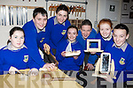 Members of the Woodwork Club from Castleisland Community College l-r: Alison McGaley, Tony Mitchell, Eamon O'Connor, Claire Cahill, Cian Lonergan, Erin O'Connor and Kelly Burke  who meet at lunch time to work on Woodwork projects