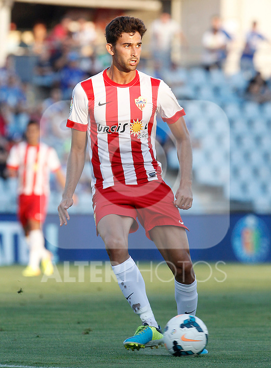 Almeria's Marcos Tebar during La Liga match.August 23,2013. (ALTERPHOTOS/Acero)