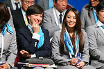(L to R) <br /> Christel Takigawa, <br /> Rie Tanaka, <br /> SEPTEMBER 7, 2013 : <br /> A press conference after Tokyo was announced as the winning city bid for the 2020 Summer Olympic Games at the 125th International Olympic Committee (IOC) session in Buenos Aires Argentina, on Saturday September 7, 2013. (Photo by YUTAKA/AFLO SPORT)