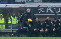 Jim Bentley manager of Morecambe controls the ball during the Sky Bet League 2 match between Wycombe Wanderers and Morecambe at Adams Park, High Wycombe, England on 2 January 2016. Photo by Andy Rowland / PRiME Media Images