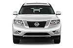 Straight front view of a 2013 Nissan Pathfinder  SUV