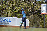 Daniel Berger (USA) watches his tee shot on 10 during round 1 of the World Golf Championships, Dell Match Play, Austin Country Club, Austin, Texas. 3/21/2018.<br /> Picture: Golffile | Ken Murray<br /> <br /> <br /> All photo usage must carry mandatory copyright credit (&copy; Golffile | Ken Murray)