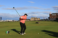 Gerry McManus (AM) on the 18th tee during Round 3 of the Alfred Dunhill Links Championship 2019 at St. Andrews Golf CLub, Fife, Scotland. 28/09/2019.<br /> Picture Thos Caffrey / Golffile.ie<br /> <br /> All photo usage must carry mandatory copyright credit (© Golffile | Thos Caffrey)