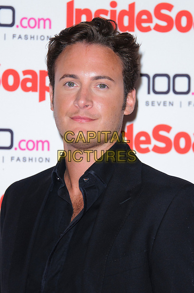 Gary Lucy.The Inside Soap Awards 2012, One Marylebone, London, England..September 24th, 2012.headshot portrait black suit shirt.CAP/CJ.©Chris Joseph/Capital Pictures.