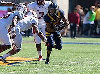 October 20th, 2012: California's C.J. Anderson runs down the field during a game against Stanford at Memorial Stadium at Berkeley, Ca   Stanford defeated California 21 - 3