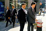 Lloyds of London Insurance brokers in their lunch hour. Young business men 1992 City of London 1990s UK