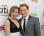 """Prospect Park's All My Children's Eric Nelsen """"AJ Chandler"""" and girlfriend Sainty Reid on the Red Carpet at New York Premiere Event for beloved series """"All My Children"""" on April 23, 2013 at NYU Skirball, New York City, New York  as The Online Network (TOLN) - AMC - OLTL  begin airing on April 29, 2013 on Hulu, Hulu Plus. (Photo by Sue Coflin/Max Photos)"""