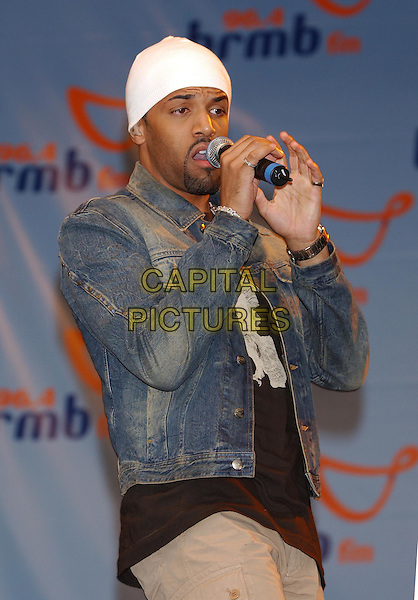 CRAIG DAVID.96.4 BRBM's Party in the Park .sales@capitalpictures.com.www.capitalpictures.com.©Capital Pictures.music, singing, live, concert, stage, denim jacket, stubble, white hat