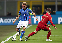 Football: Uefa Nations League Group 3match Italy vs Portugal at Giuseppe Meazza (San Siro) stadium in Milan, on November 17, 2018.<br /> Italy's Ciro Immobile (l) in action with Portugal's Bernardo Silva (r) during the Uefa Nations League match between Italy and Portugal at Giuseppe Meazza (San Siro) stadium in Milan, on November 17, 2018.<br /> UPDATE IMAGES PRESS/Isabella Bonotto<br /> <br /> UPDATE IMAGES PRESS/Isabella Bonotto