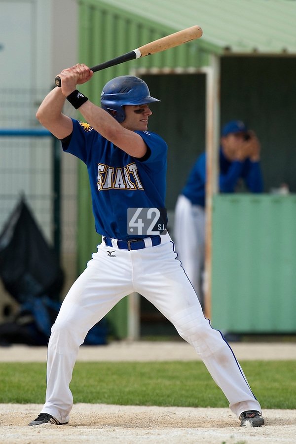 22 May 2009: Alex Malihoudis of Senart is seen during the 2009 challenge de France, a tournament with the best French baseball teams - all eight elite league clubs - to determine a spot in the European Cup next year, at Montpellier, France. Senart wins 7-1 over Montpellier.