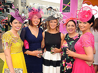 16-07-2015: Norma O'Mahony, Siobhan Murphy, Orla Keane, Moira O'Mahony and Carol O'Driscoll, at the Ross Hotel Lane Bar Cocktail and Champagne Bar  at Killarney Races ladies day on Thursday.  Picture: Eamonn Keogh (macmonagle.com)   NO REPRO FREE PR PHOTO
