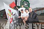 Mayor Tom Barry with the Listowel Marketing Group who launched their Love Listowel campaign last Sunday at the Lartigue Railway,  also pictured was Liam and Menno Ross with Robbie Scanlon. .